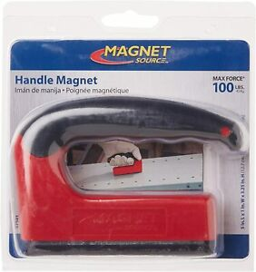 Powerful Magnet With Ergonomic Handle 100 Lb Pull Force Capacity Compact Size