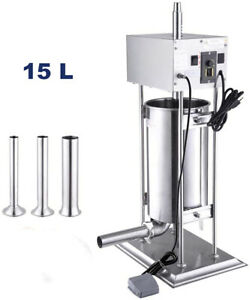 110v 15l Commercial Electric Sausage Stuffer Meat Filler Stuffing Machine 260w