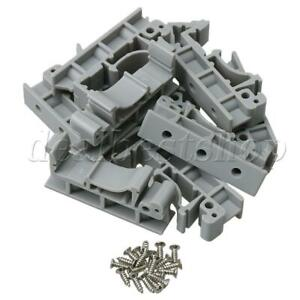 10pcs Din 35 Pcb Rail Mounting Adapter Circuit Board Bracket Holder Carrier
