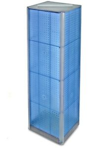 Azar 700405 Blue Four Sided Peg Board Spinner Floor Display
