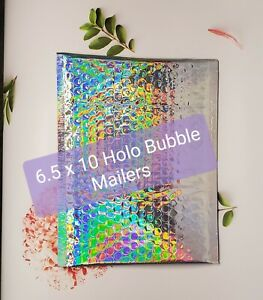 Holographic 5 10 Bubble Mailers Cute Packaging Supplies
