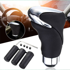 Manual Automatic Car Leather Gear Stick Shift Knob Cover Handle Shifter Lever