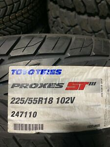 2 New 225 55 18 Toyo Proxes St3 Tires