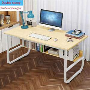 Computer Table Modern Desk Home Office Study Workstation Writing Furniture She