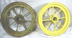Vintage John Deere 8 spoke Tractor Wheels 17 1 2 Jd1960 Pair
