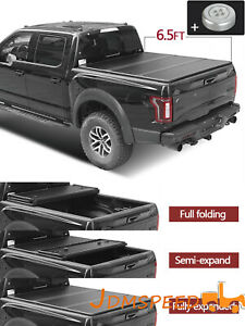 Tri Fold Pickup Truck Bed Hard Cover 6 5 Ft For 08 18 Dodge Ram 1500 2500 3500
