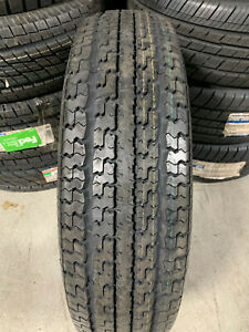 2 New St 235 80 16 Lrd 8 Ply Goodyear Marathon Radial Trailer Tires