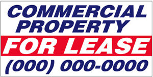 2 To 20 Commercial Property For Lease Vinyl Banner Custom Sign Add Your Phone