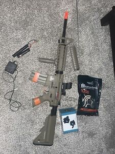 Lancer Tactical LT 04T M4A1 AEG Full Semi Auto RIS Tan Metal Gear Airsoft Rifle $110.00