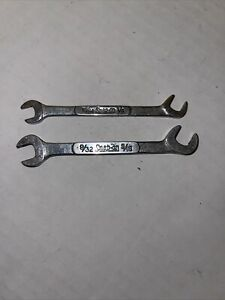 Snap On Lot Of 2 Angle Ignition Wrench Ds1820 Ds1516 Very Nice