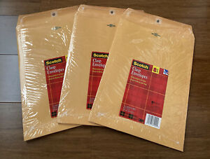 Scotch 8 Pack lot Of 3 Clasp Kraft Paper Envelopes 9 X 12 New Sealed