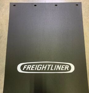 Freightliner Mud Flaps Black White 24 x 30 White pair Heavy Duty Poly
