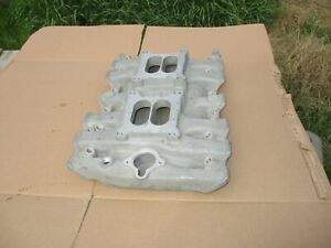 New Nos Offenhauser 2x4 Dual Quad Intake Manifold 400 455 Olds 5589 Oldsmobile
