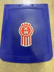 Kenworth mud Flaps blue red Logo 24 x 30 pair Hd Rubber Limited Edition