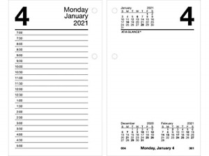 2021 Daily Desk Calendar Refill By At a glance 3 1 2 X 6 Loose leaf With