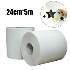 Clear Sign Vinyl Application Tape Sticky Decal Sticker Transfer Paper 5m 24cm