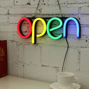 Led Neon Open Sign Light For Business Bar Club Ktv Wall Decoration Commercial Li