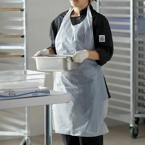 Pack Of 50 Disposable Clear Plastic Aprons Disposable 28 X 46 Heavyweight