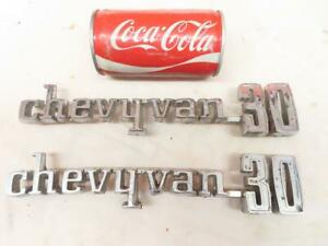 Vintage 1971 1976 Chevy Van 30 Series Factory Emblems 3970873 Chevrolet