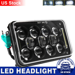 Dot Approved Black 4x6 Inch Led Headlight Hi Lo Beam Drl For Chevrolet S10 1995