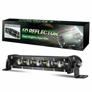 6d 7inch Silm Led Light Bar Spot Beam Lamp Driving Offroad Ute Utv Suv Atv Truck