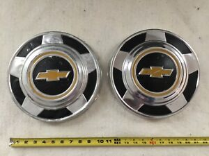 Vintage Chevy Truck Hubcaps 2 10 1 2 Dog Dish Chevrolet