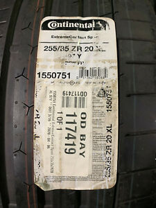 2 New 255 35 20 Continental Extreme Contact Sport Tires