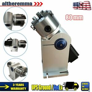 80mm Laser Axis Rotary Shaft Chuck For Laser Marking Machine Rotating Fixture