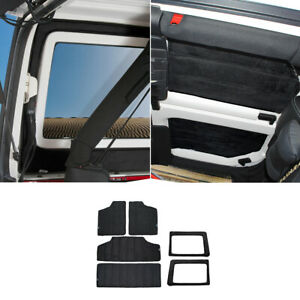 6x Hardtop tailgate Sound Deadener Headliner Insulation Kit For Jeep Wrangler Jk