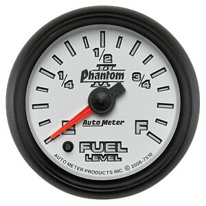 Autometer 7510 Phantom Ii Electric Programmable Fuel Level Gauge