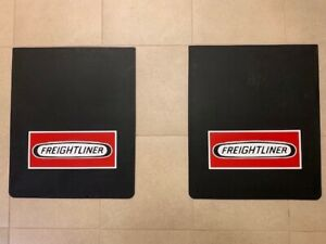 Freightliner Mud Flaps Red Logo black 24 x 30 pair Heavy Duty Rubber