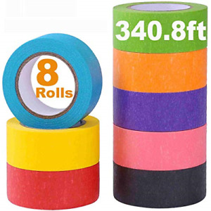 Colored Masking Tape Rainbow Colors Painters Tape Colorful Craft Art Paper Tape