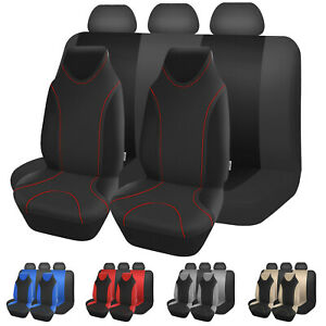 High Back Full Set Car Seat Covers Strong Stretchy Universal For Most Cars