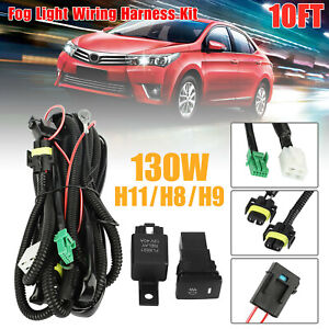 Universal Led Fog Light Bar Wiring Harness Kit 12v 40a Fuse Relay On off Switch