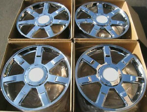 24 Set Of 4 Wheels Rims Fits Cadillac Escalade All Chrome Finish 24x10 6x139 7