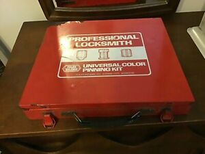 Foley Belsaw Professional Locksmith Universal Color Pin Pinning Kit Used