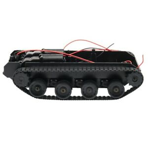 Rc Tank Smart Robot Tank Car Chassis Kit Rubber Track Cler For Arduino 130 Q7m4
