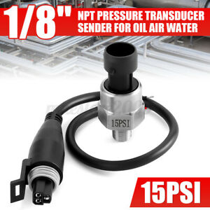 1 8npt 15psi Fuel Pressure Transducer Sender 5v Dc For Oil Fuel Air Water