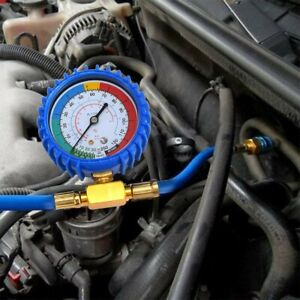 Tap Gauge Hose Recharge Refrigerant Ac Conditioning Self sealing R134 Can
