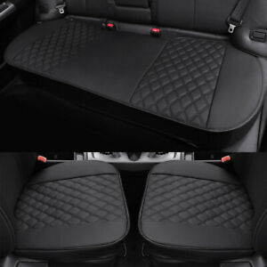 Universal Leather Car Seat Cover Front Rear Bottom Cushion Protector Waterproof