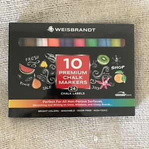 Premium Chalk Markers Set Of 10 By Weisbrandt Ultracolor