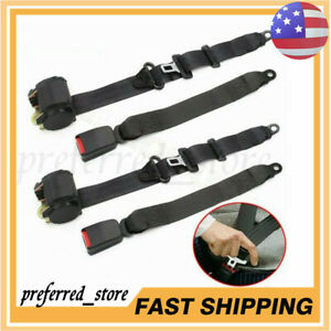 2pcs Universal 3 Point Retractable Seat Belts For Jeep Cj Yj Wrangler 1982 1995