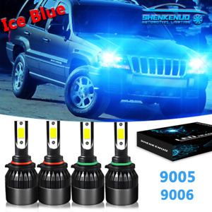 4x Led Headlights Lights Bulbs For Jeep Grand Cherokee 2005 2007 2008 2009 2010