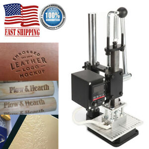 110v Heat Press Machine Leather Embossing Foil Gold Stamping Hot Pressing Logo