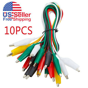 10pcs And 5 Colors Test Lead Set Alligator Clip 20 5 Inches Double ended Lead