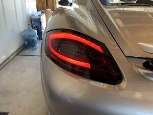 For 05 08 Porsche 987 Boxster Cayman S Fiber Optic Red Smoke Led Tail Lights