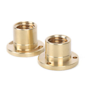 X y axis Copper Sleeve Milling Machine Part longitudinal Brass Feed Nut 5mm New