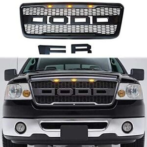 Front Grille W Led For Ford 2004 2005 2006 2007 2008 F 150 F150 Svt Raptor Style