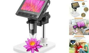 4 3 Inch Lcd Digital Microscope 10x 600x Magnification coin Usb Microscope Vide