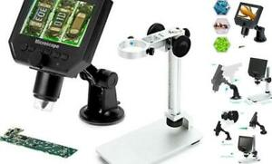 4 3 Lcd Digital Usb Microscope Magnifier With Adjustable Stand 1 600x Continuo
